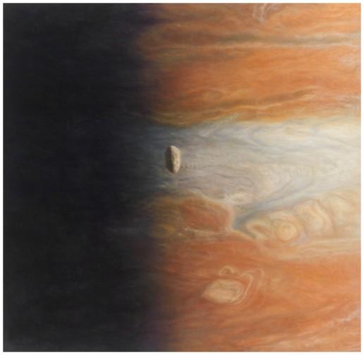 Amalthea ueber Jupiter - Artist Bjoern Dressler